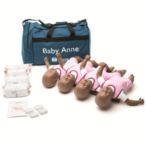 Laerdal Baby Anne piel oscura (4 unidades)